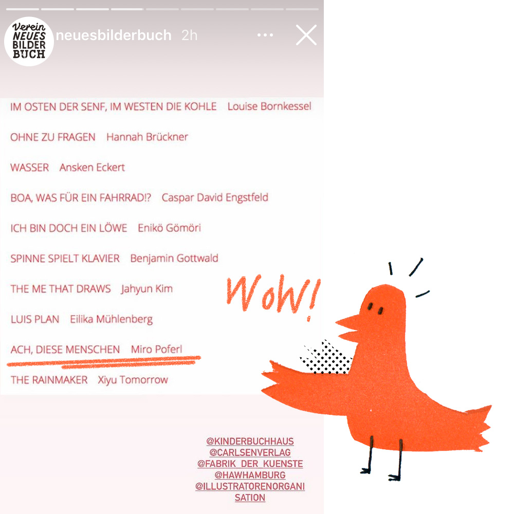 Screenshot der Shortlist des Hamburger Bilderbuchpreis