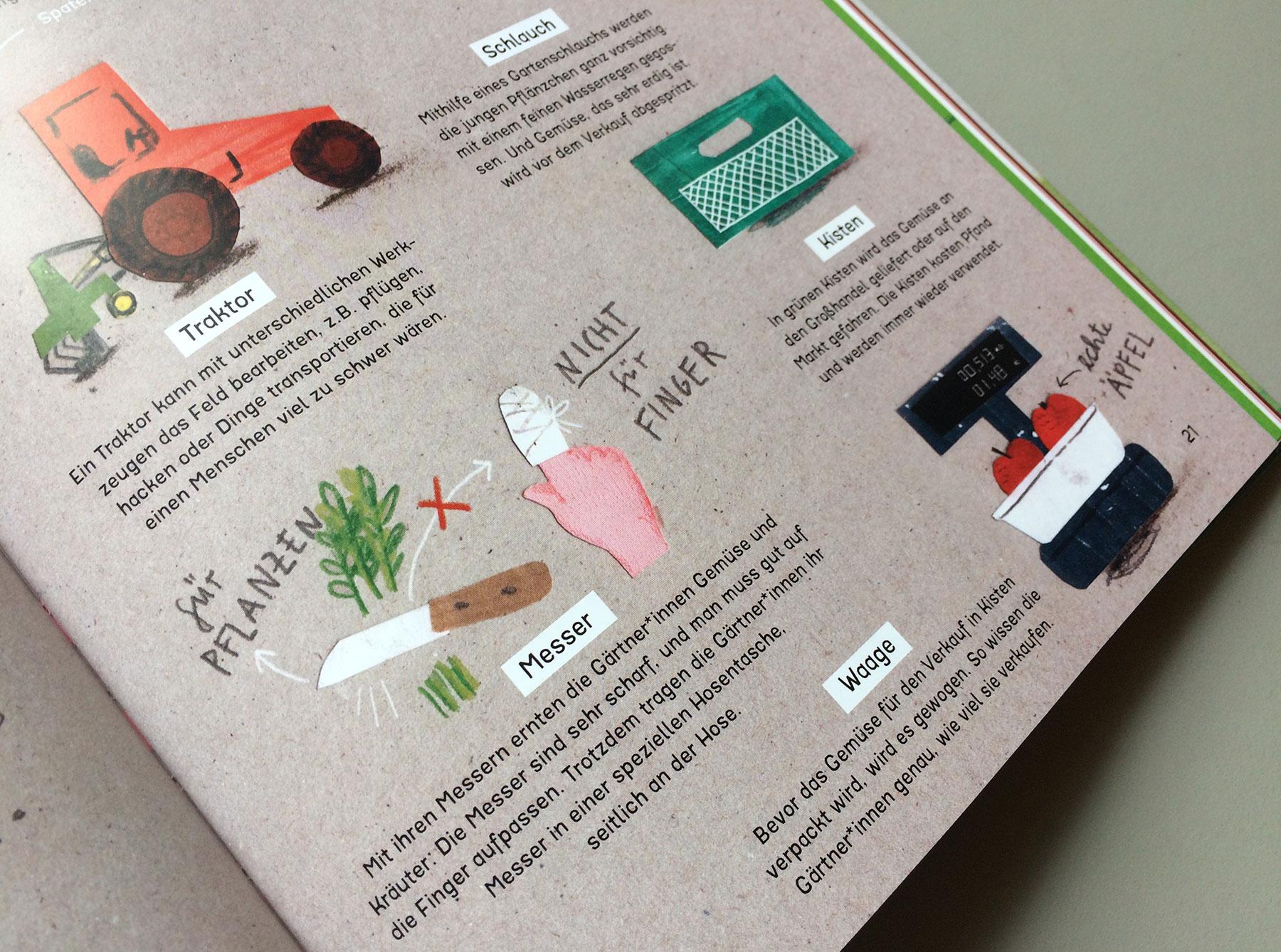 """Detail des Buchs """"Radieschenmaus und Kuschelgurke"""" Was brauchen Profis zum Gärtnern"""