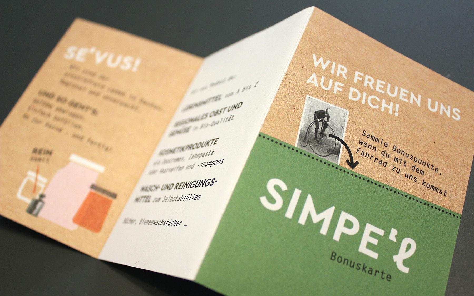 Flyer für den Unverpacktladen Simpel