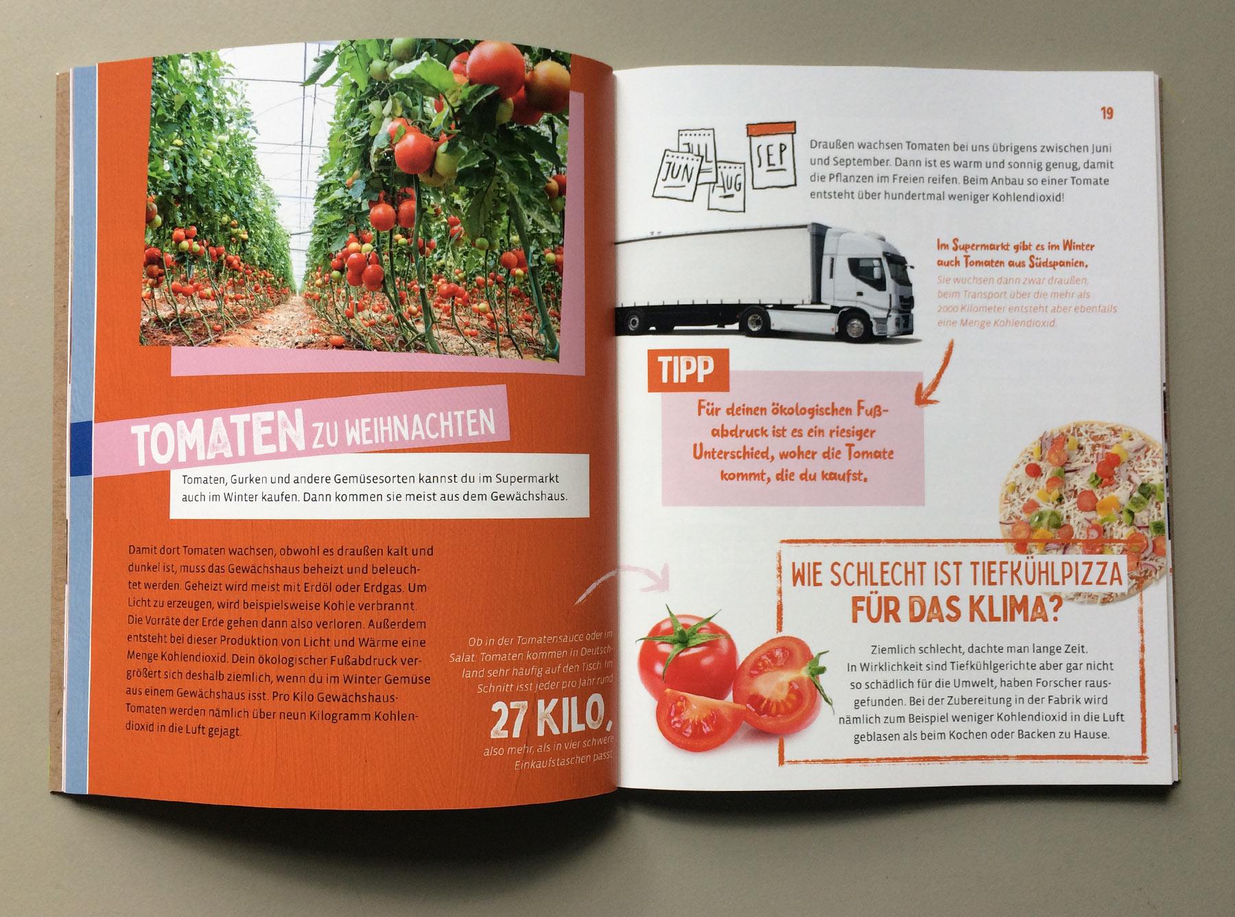 """Doppelseite """"Mein ökologischer Fußabdruck"""" Thema Lebensmittel"""